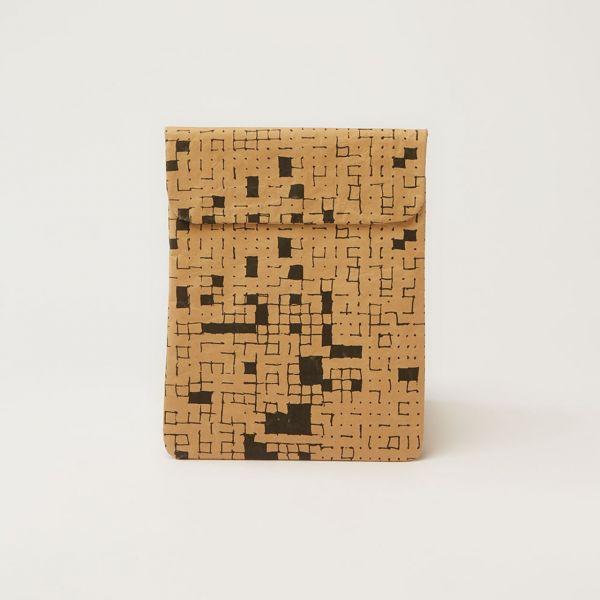 Hülle Ipad Air Black Dots&Squares