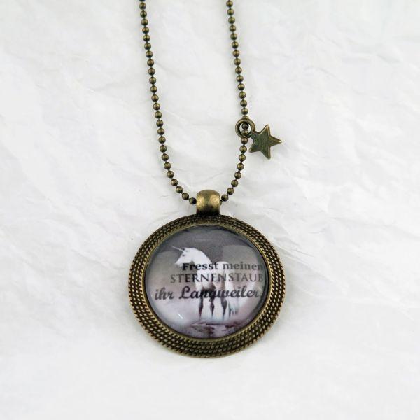 Medaillon-Halskette Sternenstaub