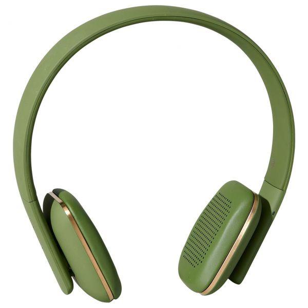 Kopfhörer aHead von Kreafunk, olivgrün