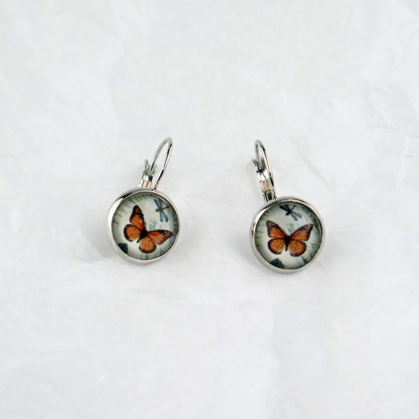 Ohrring oranger Schmetterling