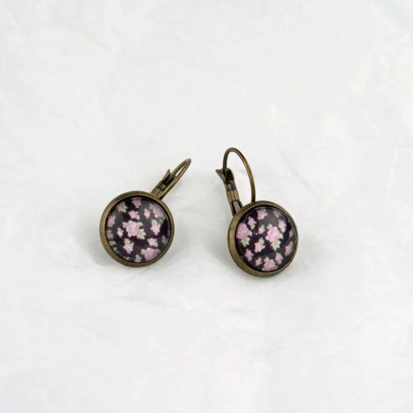 Ohrring rosa Blüten